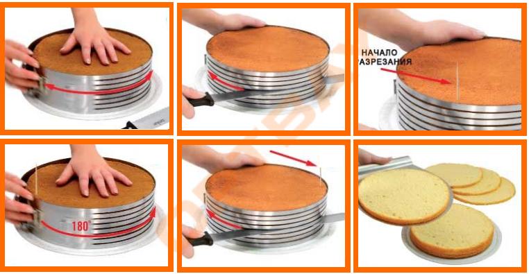 Форма слайсер для нарезки коржей для торта Cake Slicer купить в ...